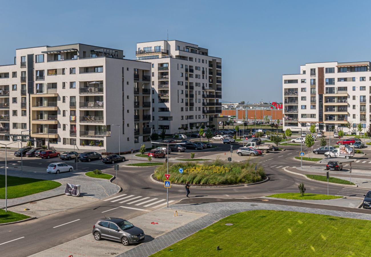 Apartment in Brasov -  Apartment Ella elegant with parking near the Coressi Mall