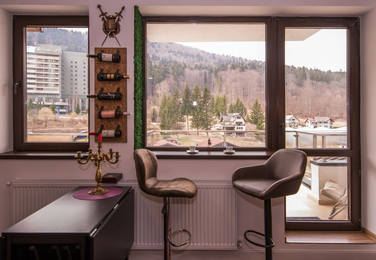 Apartment in Sinaia - Castle Suite art design- mountain view and private parking